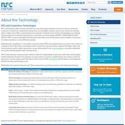 About the Technology - NFC Forum