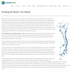 About & Technology - WATERFIND