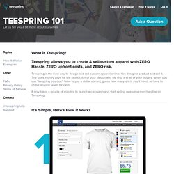 About Teespring / How it Works