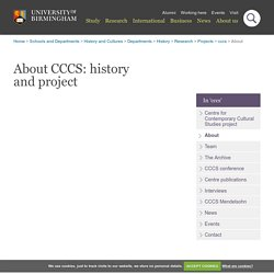 About the Birmingham CCCS