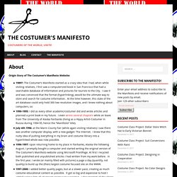 About – The Costumer's Manifesto
