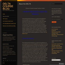 DELTA Course Blog