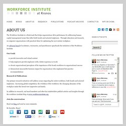 The Workforce Institute » ABOUT US