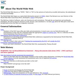 About The World Wide Web