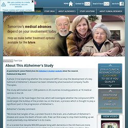 About This Alzheimer's Study.