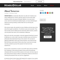 About Tomorrow - HumbleDollar