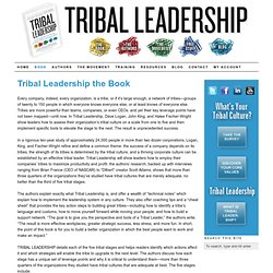 About the Tribal Leadership Book — Tribal Leadership