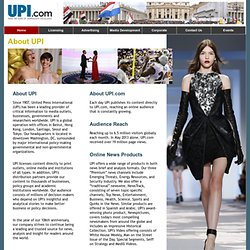 About United Press International | About UPI