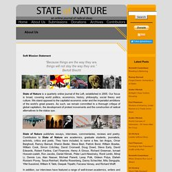 "Journal / ""State of Nature"" / Politics, Economics, Social Theory, Philosophy"