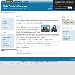 The Plain English Campaign