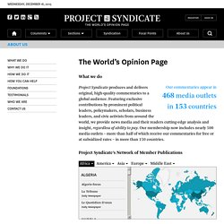 About Project Syndicate