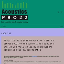 Launch Of Acousticspro22 Acoustic Panels