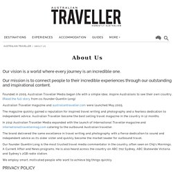 About Us - Australian Traveller