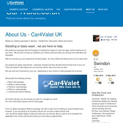 About Us - Car4Valet UK