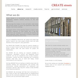 about us - Create Streets