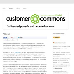 Customer Commons | About Us