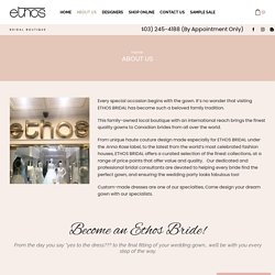 About Us - Ethos Bridal Boutique