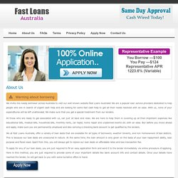 About Us - Fast Loans Australia