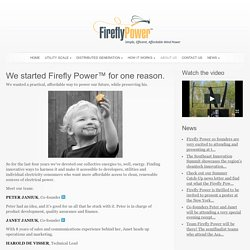 About Us - Firefly Power