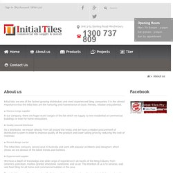 Initial Tiles – A Leading Tile Showroom in Liverpool