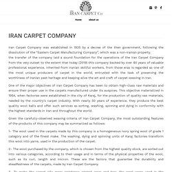 irancarpet company