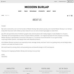 About Us – Modern Burlap