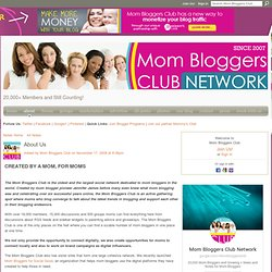 About Us - Mom Bloggers Club: Connect With Over 10,000 Mom Bloggers