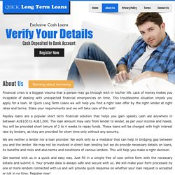 About Us - Quick Long Term Loans