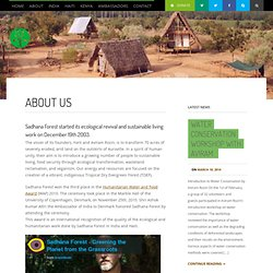 About Us - Sadhana Forest