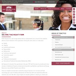 A.A. Tejuoso & Co. - The best Law firm in Nigeria and Sub-Saharan Africa region