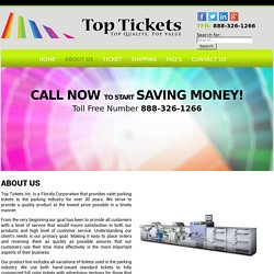 About Us – Top Tickets