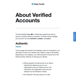 About verified accounts