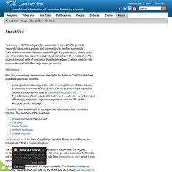 VOX, CEPR's Policy Portal