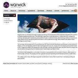 warwickaudiotech.com