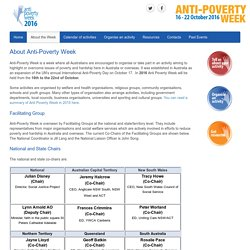 About the Week - Anti-Poverty Week