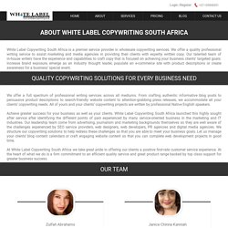 ABOUT WHITE LABEL COPYWRITING SOUTH AFRICA - White Label Copywriting South Africa