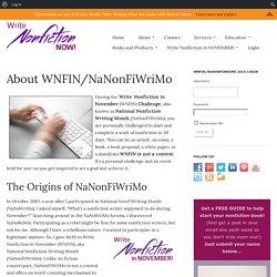 About WNFIN/NaNonFiWriMo