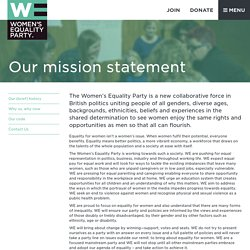 About - Women's Equality