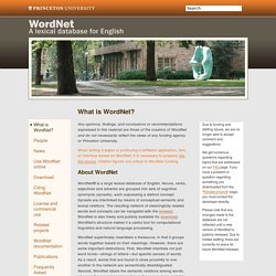 About WordNet - WordNet - About WordNet