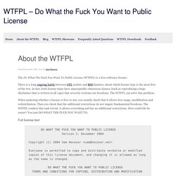 About the WTFPL