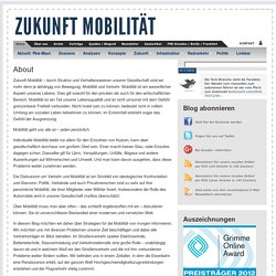 About » Zukunft Mobilität