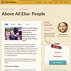 Above All Else- People