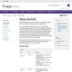 OCLC: Above the Fold