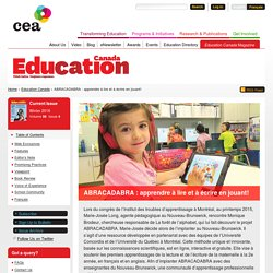 ABRACADABRA : apprendre à lire et à écrire en jouant!