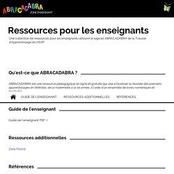 ABRACADABRA Ressources pour les enseignants