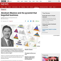 Abraham Maslow and the pyramid that beguiled business