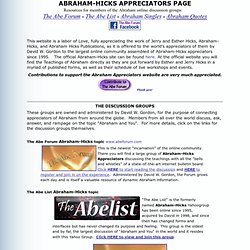 The Abraham-Hicks Appreciators Page