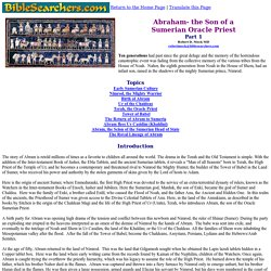 Abraham- the Son of a Sumerian Oracle Priest