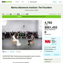 Marina Abramovic Institute: The Founders by Marina Abramovic Institute