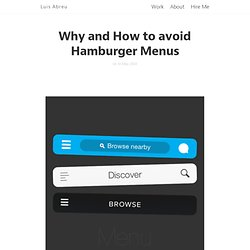 Luis Abreu: Why and How to avoid Hamburger Menus
